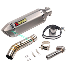 Motorcycle Exhaust Escape DB Killer 51mm Mid Muffler Middle Link Pipe Modified Connection For Honda CBR500 CBR500R CB500X CB500F akrapovic motorcycle exhaust db killer exhaust muffler and stainless steel middle link pipe whole set for honda cbr500 300r