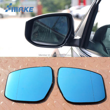 smRKE 2Pcs For Nissan Sylphy Rearview Mirror Blue Glasses Wide Angle Led Turn Signals light Power Heating