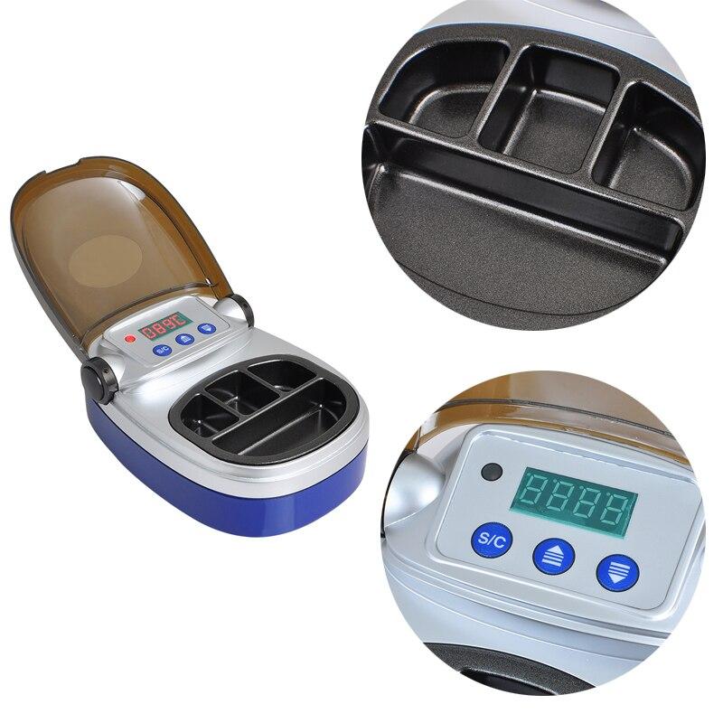 110 V y 220 V Blanqueadores de dientes, equipo de laboratorio dental analog digital Cera calentador olla 4 bien olla para la fusión
