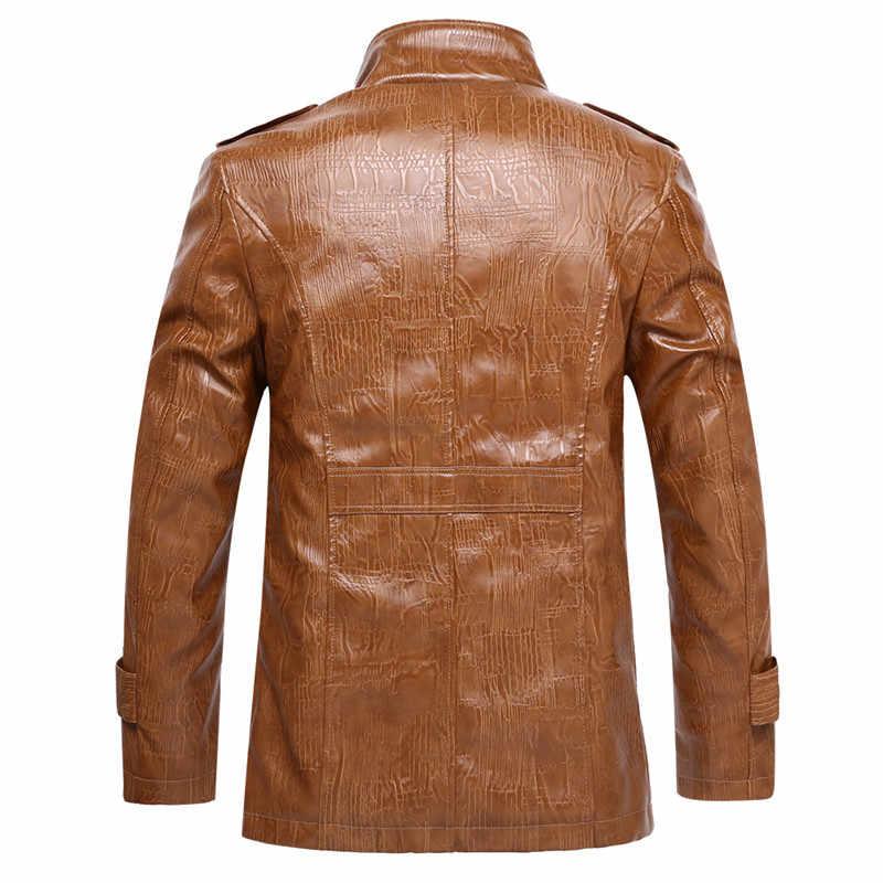 M-8XL invierno De los hombres De cuero De la PU De la motocicleta chaquetas De los hombres chaqueta De cuero sintético De Jaqueta De Couro Masculina hombres abrigo De piel Dropshipping. exclusivo.