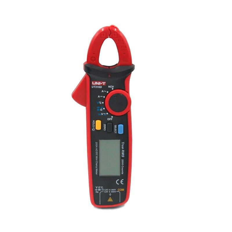 UNI-T UT210D Numérique Pince Multimètre AC/DC Tension Courant Indicateur Vrai RMS Mini Auto Gamme Multimetro Numérique Multimètre