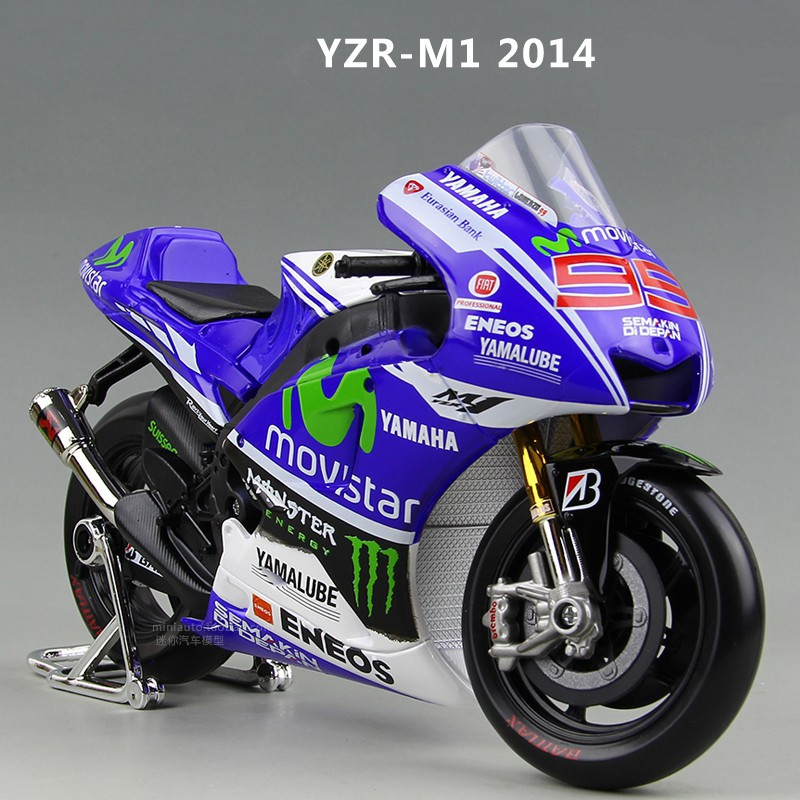 Maisto Yamaha YZR M1 MotoGP 2013 2014 #99 #46 1:10 1:18Motorcycles Model Diecast Toy New in Box ...