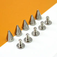100Pcs Spikes Cone Studs Silver Studs An