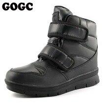 Купить с кэшбэком GOGC Warm Men Winter Ankle Boots Brand New Non-slip Winter Men Shoes High Quality Men Footwear Winter Boots Snow Boots 9634