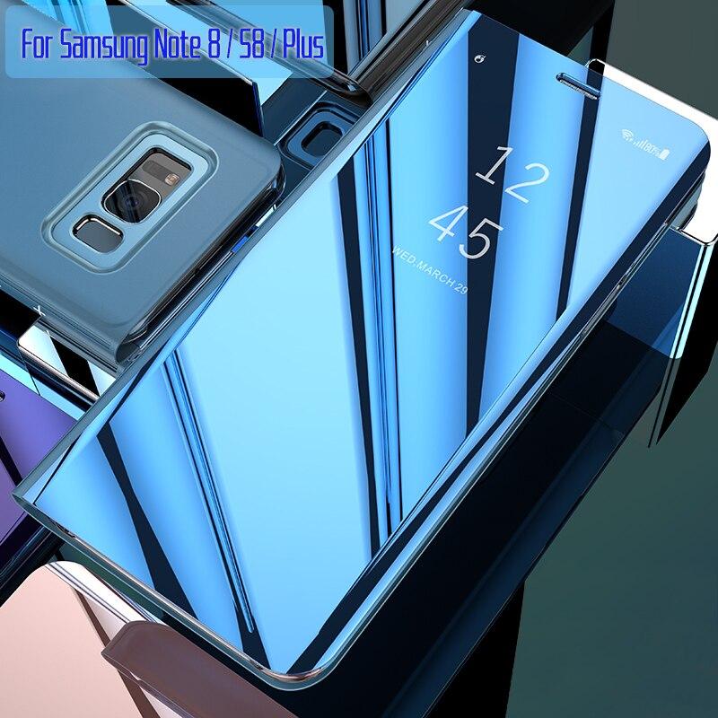 Für Samsung Galaxy S8 Fall Flip-Cover Original Spiegel Smart Chip ansicht für Samsung S8 Plus Note 8 G950F G955F N950F Fall Capa