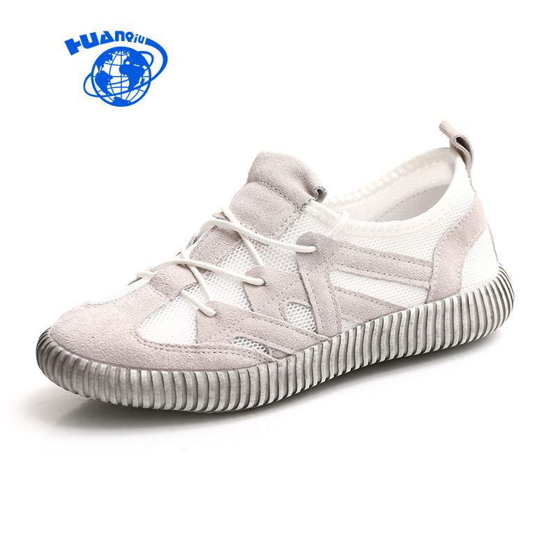 HUANQIU Women Flats for 2017 Summer Fashion Trends Female Casual Shoes Breathable Lightweight Top Quality Lady White Shoes 35-40 2016 year end clearance sale women casual shoes summer lady soft fashion shoes high quality breathable shoes mm x02