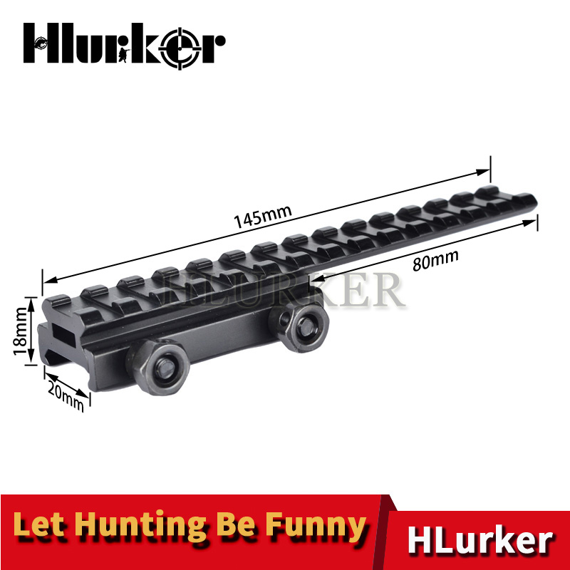 Hlurker AR15/M4/M16 Rifle Scope Mount Base Flattop Riser Extended Long Pour 20mm Picatinny Weaver Rail 0.5