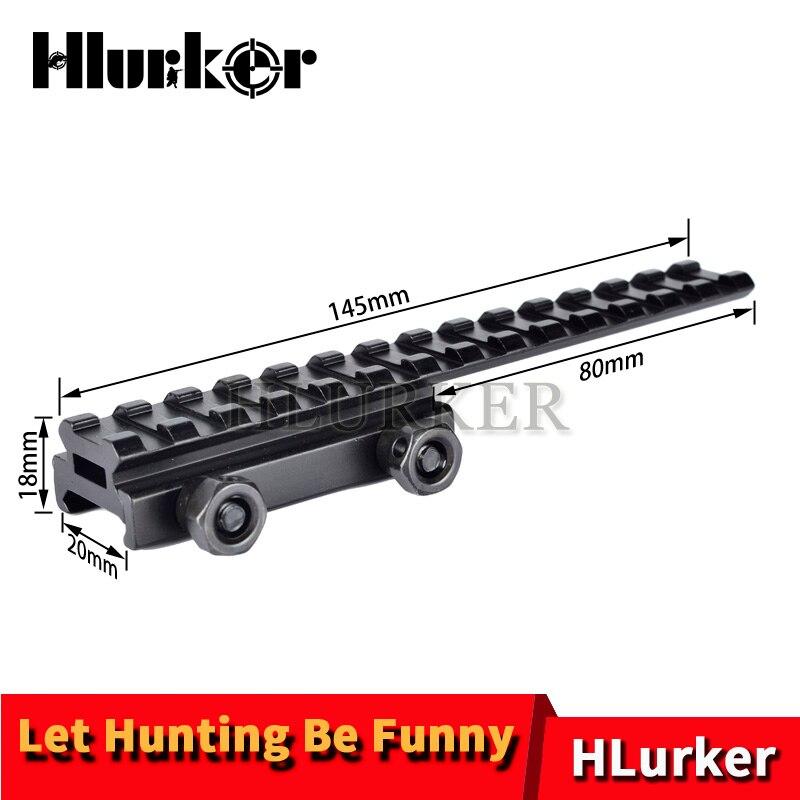 """Hlurker AR15/M4/M16 monture de lunette de fusil Base de support de Flattop longue Pour 20mm Picatinny Rail de tisserand 0.5 """"monture de lunette de visée"""