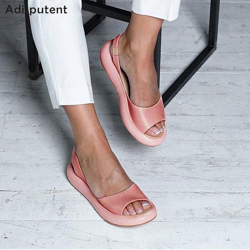 ADISPUTENT New Women Pink Jelly Shoes Slippers Summer Flip Flops Beach Shoes Pool Sandals Flats Ladies Slides Chanclas De Mujer