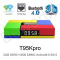 S912 T95K PRO Amlogic Android 6.0 Octa Core 2 GB de Ram 16 GB TVBox Kodi 17.0 de Banda Dual WIFI Bluetooth 4 K UHD OTT Inteligente Media Player