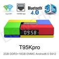 T95K PRO Amlogic S912 Android 6.0 TVBox Octa Core 2GB Ram 16GB Kodi 17.0 Dual Band WIFI Bluetooth 4K UHD OTT Smart Media Player
