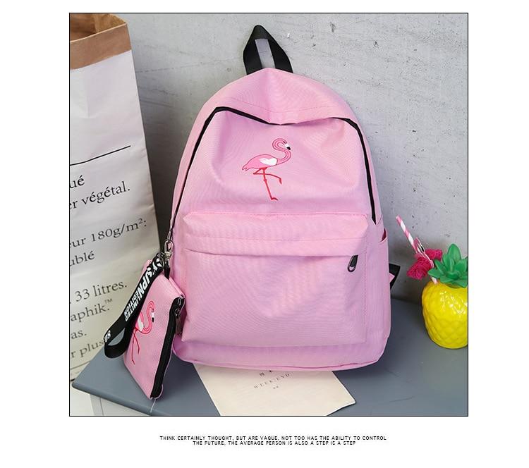 Backpacks Brand Women Simple Flamingo Printing Backpack For Teenage Girls Laptop School Bags Mochila 2019
