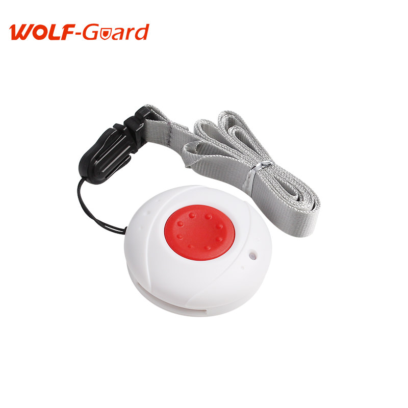 Wolf-Guard 433mhz Wireless Plastic Emergency Button Wristwatch Work with GSM Alarm System for Elder Kids Home Security 2 receivers 60 buzzers wireless restaurant buzzer caller table call calling button waiter pager system