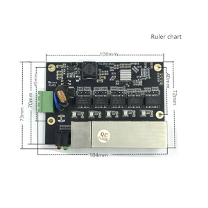 Image 4 - 管理 5 ポート 10/100 メートル産業用イーサネットスイッチ pcba ボード OEM 自動オートセンシングポート PCBA ボード OEM マザーボード