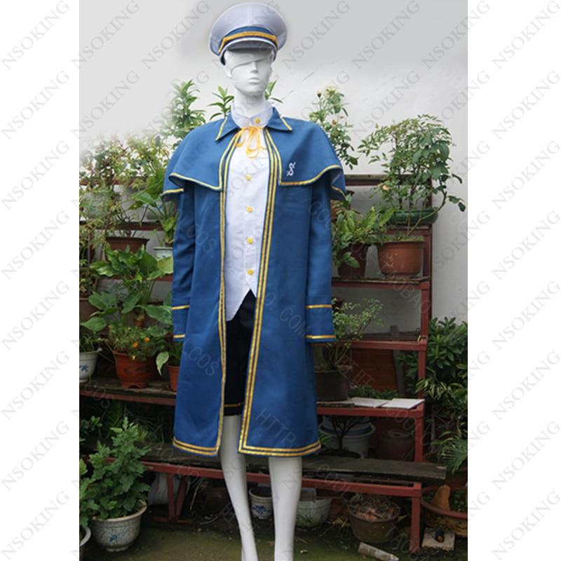 Men Oliver Navy suit vocaloid 3 Cosplay Costume