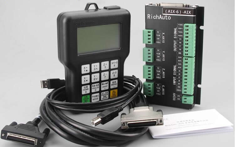 RichAuto A11 CNC DSP controller for CNC Machine Woodworking Machinery Lathe, Russia free tax