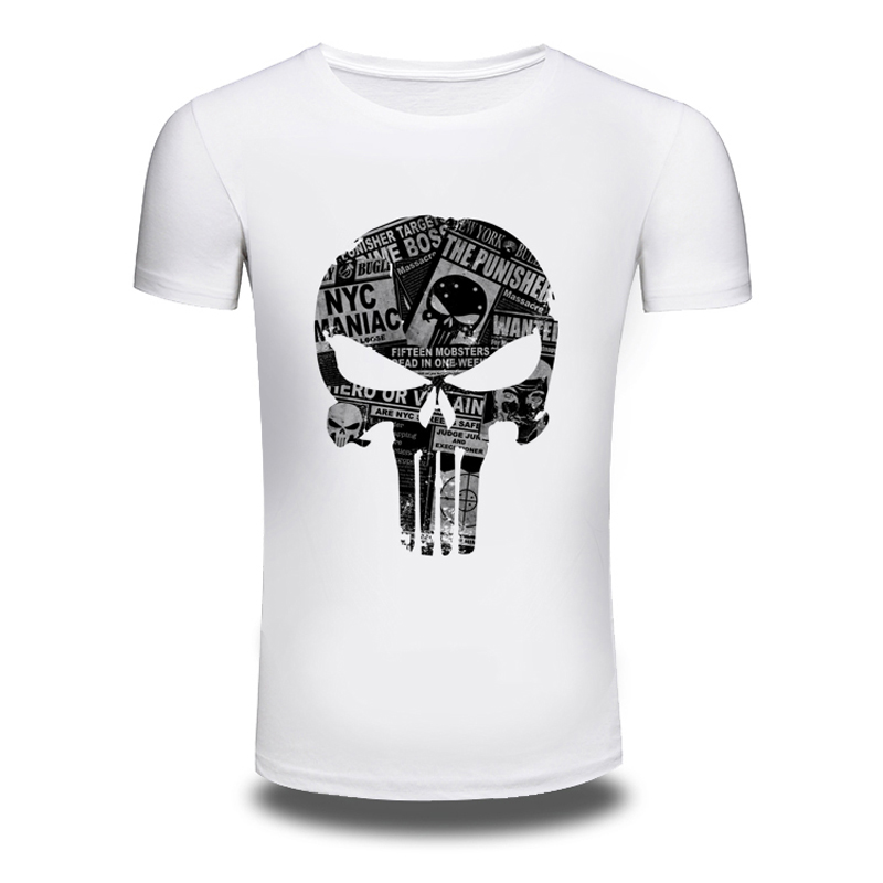DY 92 font b Men s b font Fashion Skulls Design T font b Shirt b