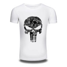 DY-92 Men's Fashion Skulls Design T Shirt 100%Cotton High Quality Soft Material Men Hipster TShirts Top