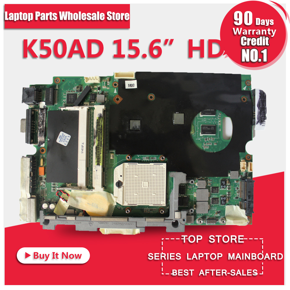 Hot selling laptop motherboard for ASUS K50AD X5DAD REV 1.3 15.6 inch machine 512m graphics card motherboard hot selling 3 28 for asus x401a 60 mn0mb1202 a06 15 6 inch x501a rev 2 0 laptop motherboard tested 100% 45days warranty
