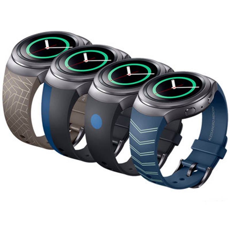 URVOI band for Samsung Galaxy Gear S2 strap/wrist modern design style with metal closure silicone Colorful replacement смарт часы samsung gear s2 black