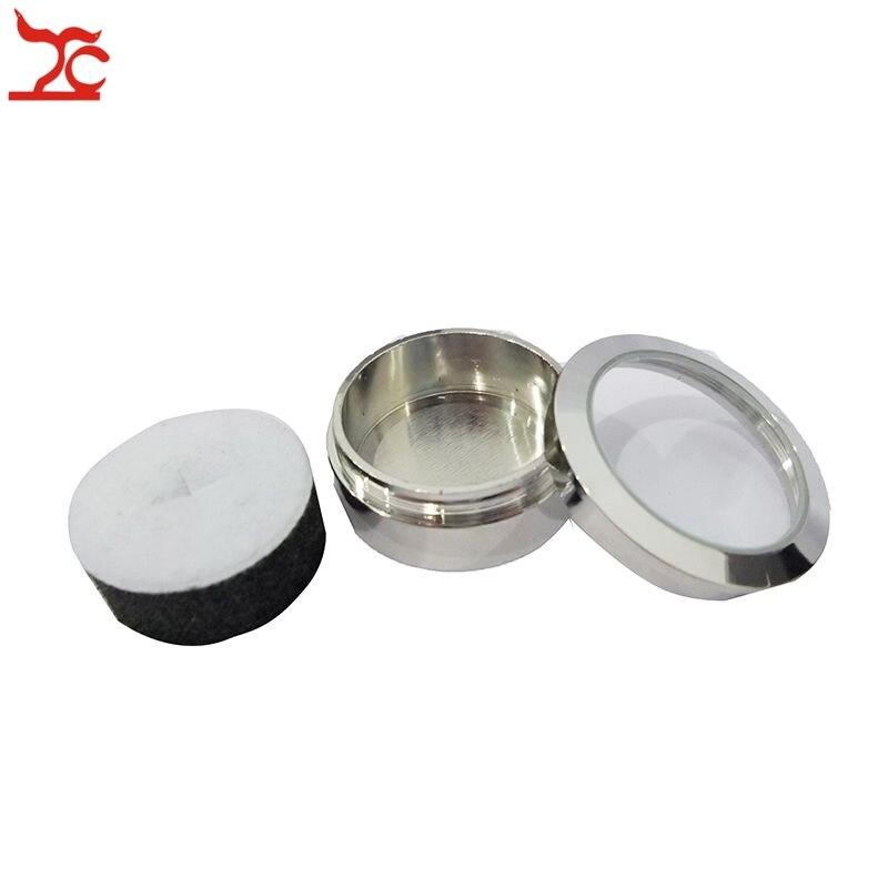 10Pcs Stainless Steel Gem Diamond Display Storage Box Reversable Doubleside Usage Sponge Bead/Stud Earring Rhinestone Box