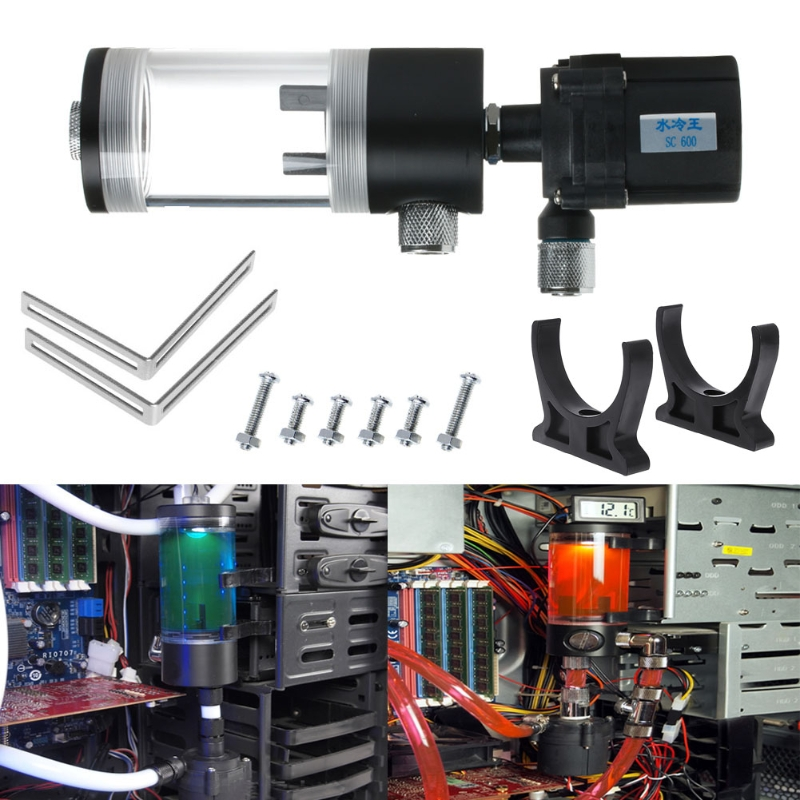 Nouveau 140mm cylindre réservoir d'eau SC600 pompe ordinateur refroidissement par eau radiateur 600L/H-in Kits domotiques from Electronique    1