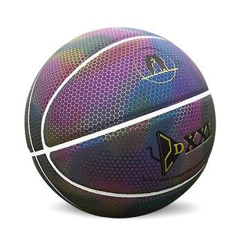 Nieuwe Rainbow Basketbal Voor Mannen Lichtgevende Kleurrijke Indoor/Outdoor Game Bal