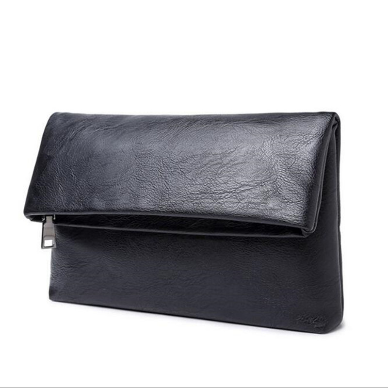 a71939262ca28 أعلى جودة محفظة جلدية الأعمال الرجال pruse الذكور للطي مخلب عارضة سستة  محافظ المال حقيبة جيب