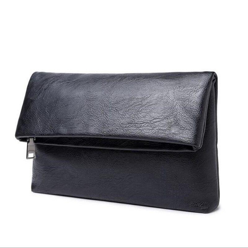 80b3f4c6b Cartera de cuero de calidad superior hombres de negocios pruse hombre  embrague plegable casual cremallera monederos bolso del dinero