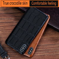 LANGSIDI Genuine Leather High end phone case for iphone X XS XSmax XR 6 7 8 8plus 5s SE Half pack Drop protection sleeve
