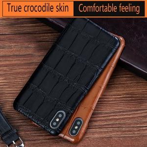 Image 1 - LANGSIDI Luxury Original Crocodile phone case for iphone 12 pro 12 mini X XS max XR 7 8 plus SE 2020 for iphone 11 pro max