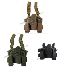 CQC Glock 17 Leg Holster Tactical CS outdoor Games Quick Draw Pistol w/ Magazine Pouch For 19 22 23 31 32