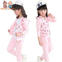 Autumn New Children 's Wear Casual Girl Cotton Sportswear Uniforms Children' S Three Piece TST0334