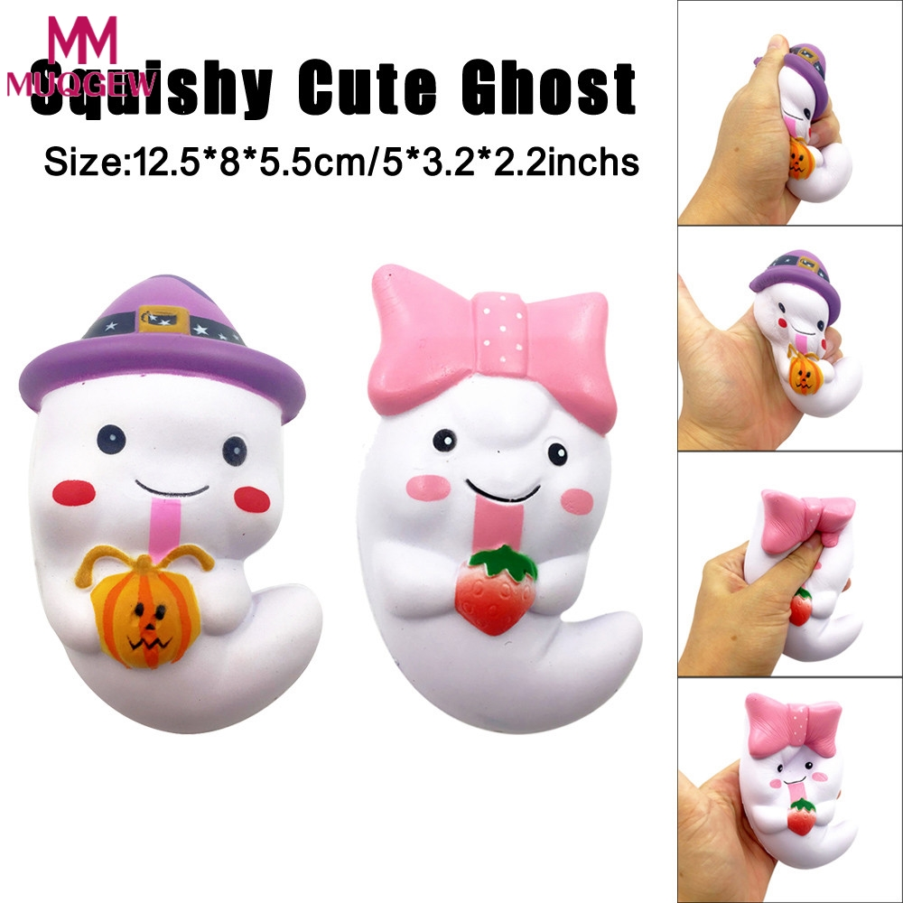 12cm Squishy Cute Ghost Squeeze Slow Rising Fun Toy Halloween Gift Phone Strap