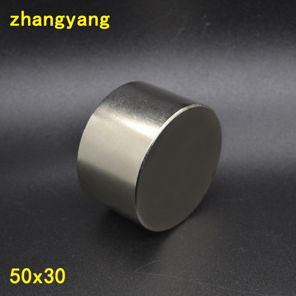 Magnete 1 pz/lotto N52 Diametro 50x30mm hot magnete rotondo Forte magneti della Terra Rara Magnete Al Neodimio 50x30mm all'ingrosso 50*30mm