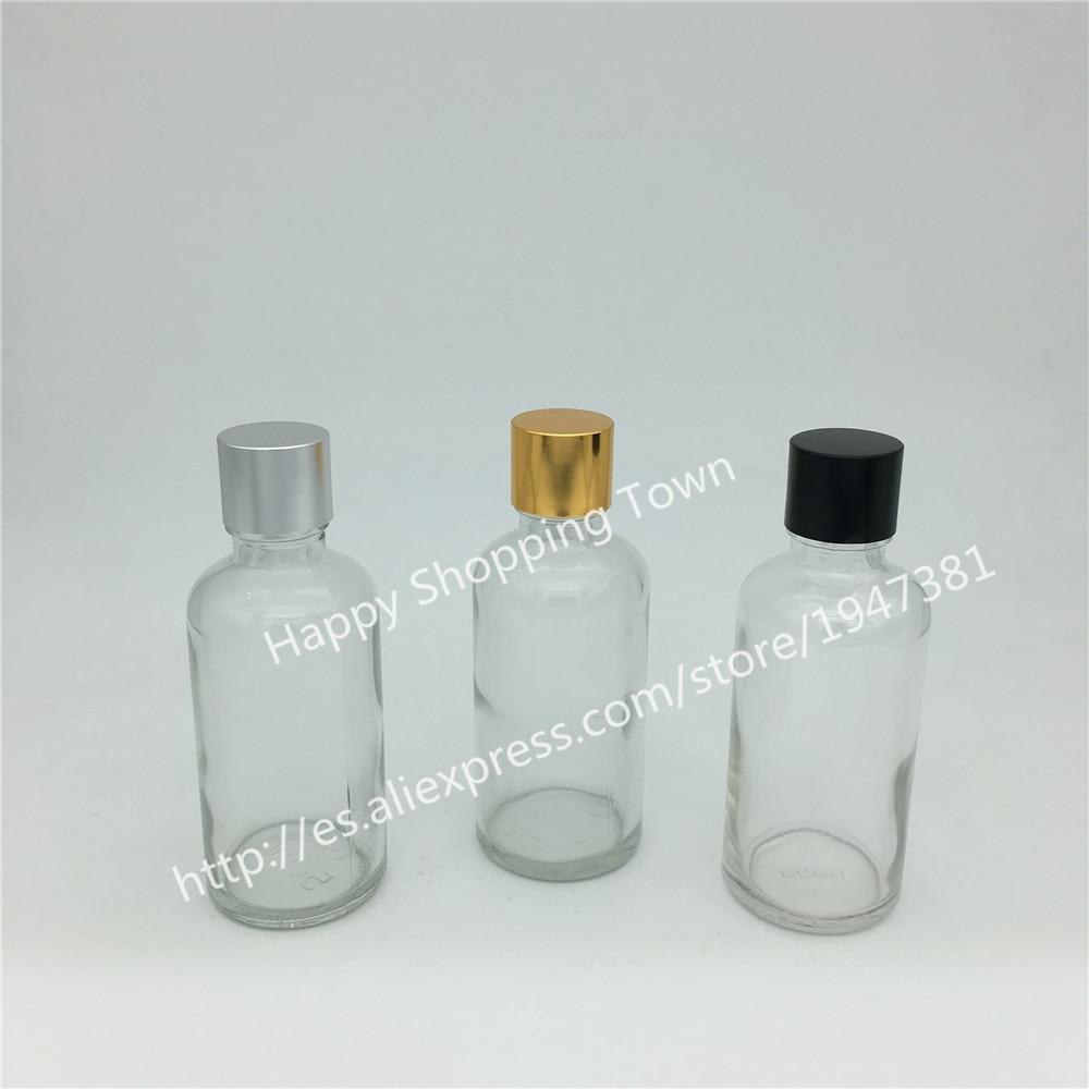 ᑐEnvío libre 10 unids/lote 50 ml botella de cristal clara con el ...