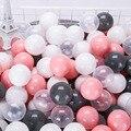A bola colorida eco-amigável coloca brinquedos transparentes plásticos macios da onda do oceano da bola da água para o bebê do miúdo das crianças 5.5/7/8 cm
