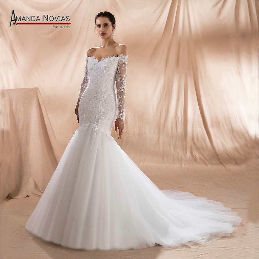 Sexy Mermaid Wedding Dress 2019 French Lace With Beading Bridal Dress