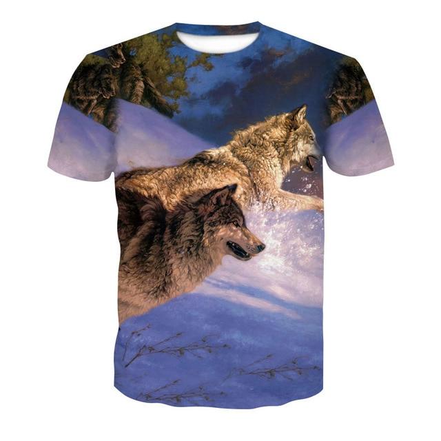 2018 new skull 3D T Shirt Summer Mens Fashion Tops Male Print harajuku wolf Men Women casual Anime T-Shirts dropshipping 1