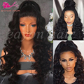Synthetic Lace Front Wigs With Baby Hair Lace Front Synthetic Wigs For Black Women Heat Resistant Synthetic Black Curly Wigs