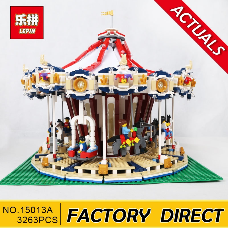 Lepin 15013 City Sreet Carousel Model Building Kits Blocks Toy Compatible 10196 Christmas Gift a toy a dream lepin 15008 2462pcs city street creator green grocer model building kits blocks bricks compatible 10185