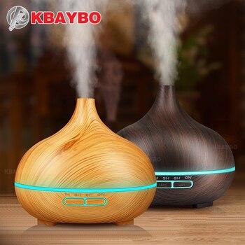 400 мл увлажнитель воздуха Эфирные масла диффузор аромалампу Ароматерапия Электрический Арома диффузор Mist чайник для дома-дерево