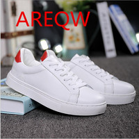 Hot Sales 2016 Autumn Europe US Women Casual Shoes White Walking Lace Up Soft Flat Zapatos
