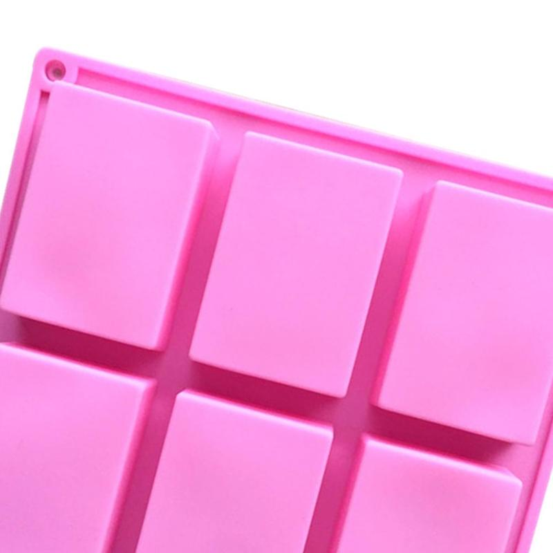 9-Cavity Rectangle Soap Mold Silicone Baking Mould Tray For Homemade Craft DIY