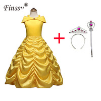 Фея Принцесса Желтый без рукавов LongSection платье День рождения банкет вечернее платье Очень красивые сувениры для дочери