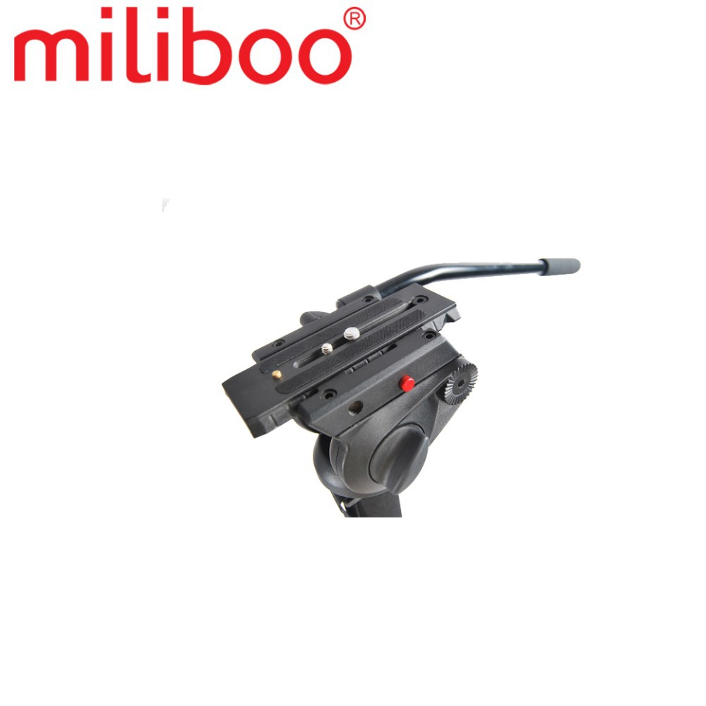 miliboo MTT704A Portable Aluminium Tripod for Professional Camcorder Video Camera DSLR Tripod Stand with Hydraulic Ball Head in Tripods from Consumer Electronics