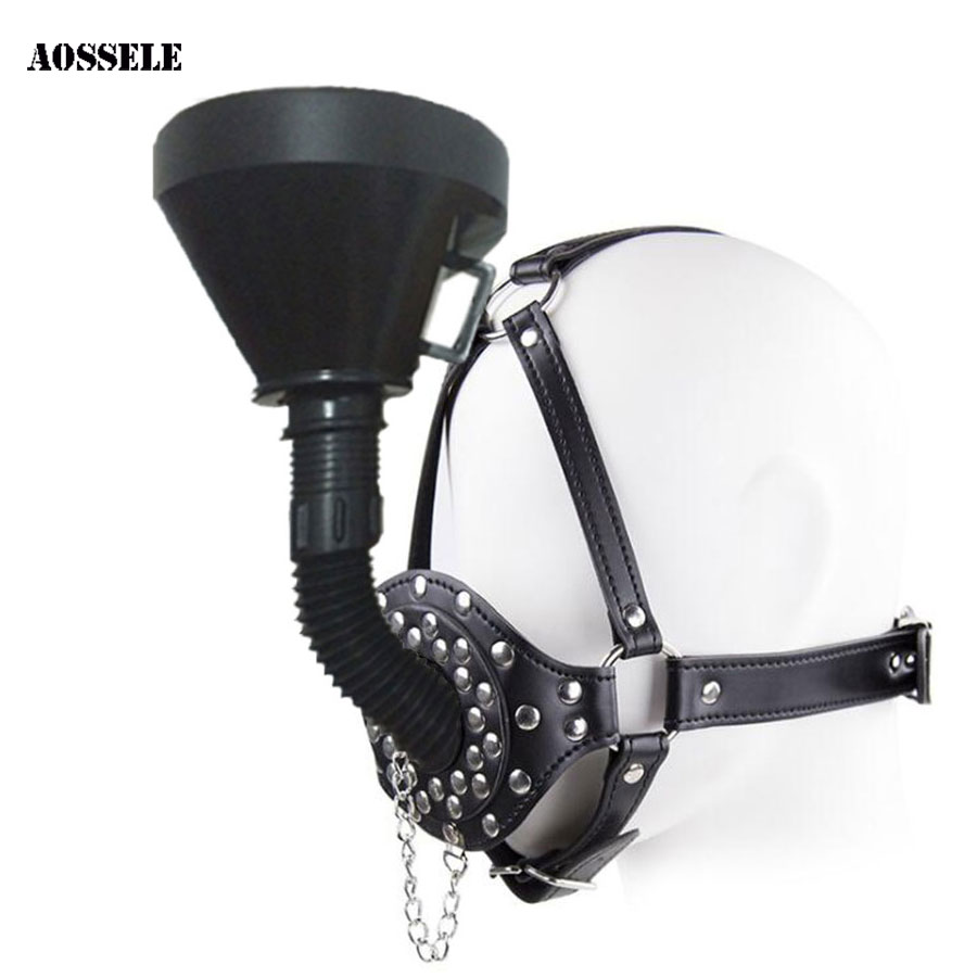 Fetish Funnel Mouth Gag BDSM Bondage Set Slave Oral Fixation Mouth Stuffed SM Adult Game Sex Toys For Women Men Toys For AdultsFetish Funnel Mouth Gag BDSM Bondage Set Slave Oral Fixation Mouth Stuffed SM Adult Game Sex Toys For Women Men Toys For Adults