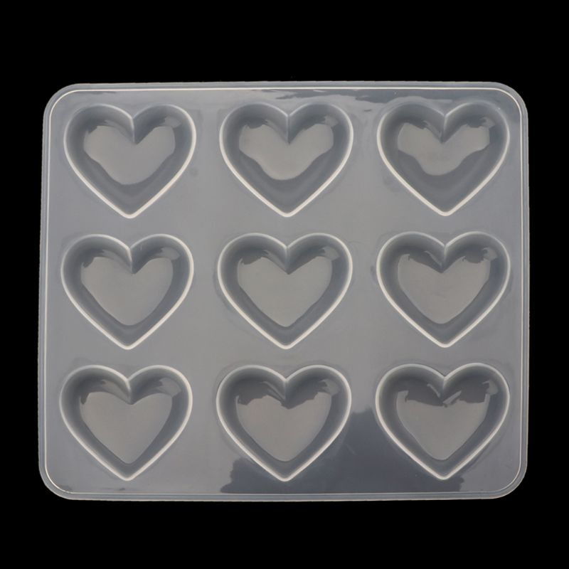 Silicone Mold 9pcs Heart DIY Epoxy Resin Crafts Jewelry Making Handmade Tools Mirror Crystal Molds Cake Fondant ChocolateSilicone Mold 9pcs Heart DIY Epoxy Resin Crafts Jewelry Making Handmade Tools Mirror Crystal Molds Cake Fondant Chocolate