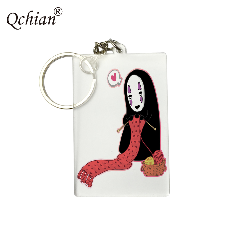Animespirited Away Transparent Acrylic Decorative Pendant PNG Format Picture Printed Keychain Logo Customization