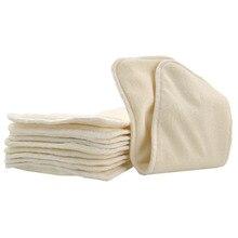 5/lot Bamboo + wkładki z mikrofibry pieluchy wysokiej jakości zmywalne wielokrotnego użytku dla pieluszki tekstylne 4 warstwy